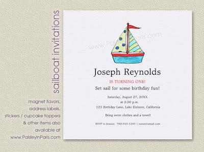 Sailboat Invitations