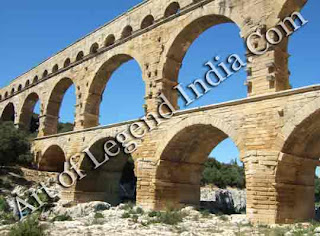 A Roman province Provence derives its name from the days of the Roman Empire, when the region was known as Provincia Romana. Among the many classical remains is this magnificent aqueduct, the Pont du Gard, which was built in about 19BC.