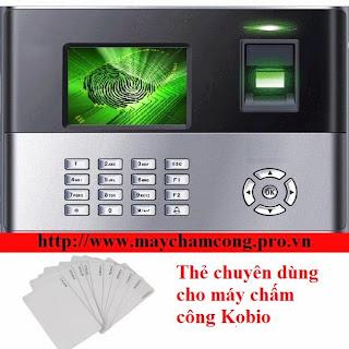 Thẻ chấm công dùng cho máy Kobio
