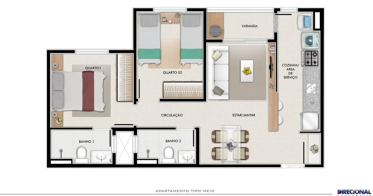 Plantas de casas 3 quartos 1 suite e garagem for Jardins mangueiral planta 3 quartos