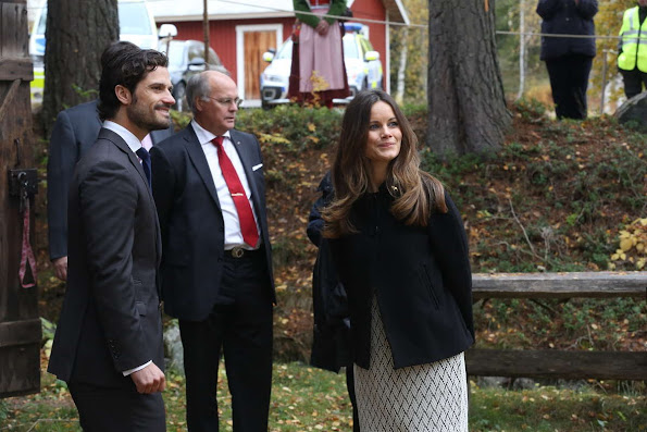 Princess Sofia of Sweden and Prince Carl Philip of Sweden visits cellulose company I-Cell in Alvdalen during the second day of a trip to Dalarna