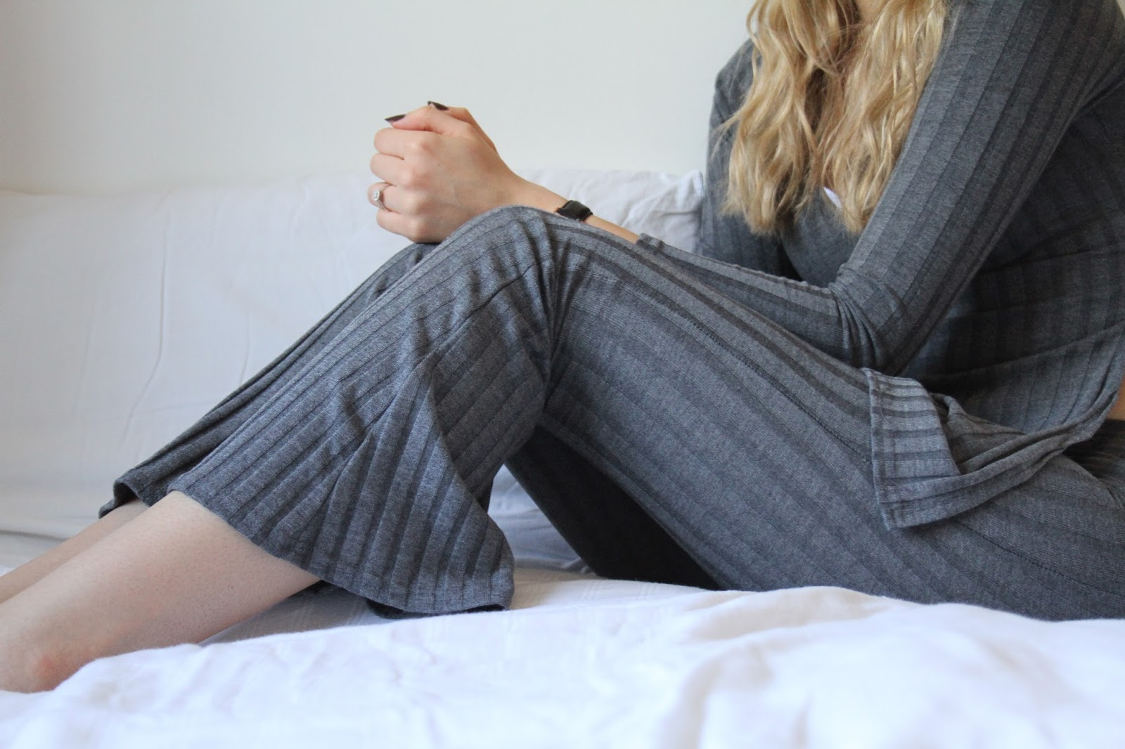 boohoo rib co ord lounge wear