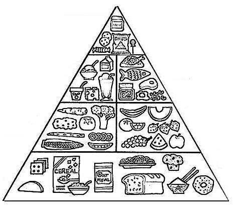 Dibujos Para Colorear De Rueda Y Piramide Alimenticia | Best ...