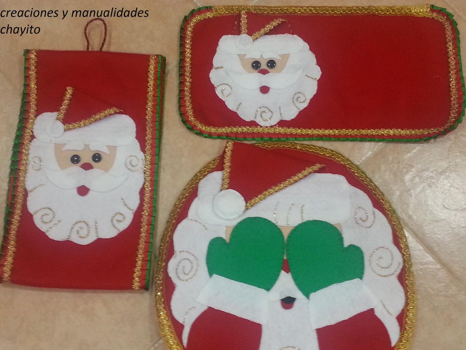 Juegos De Baño Santa Claus:Manualidades De Santa Claus