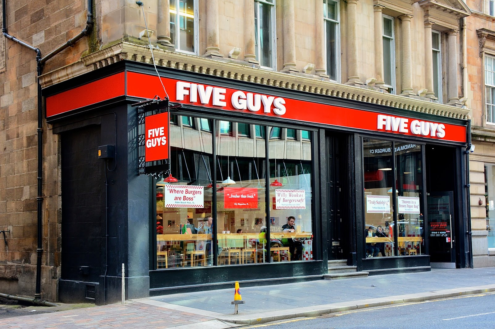 Five Guys in downtown Glasgow