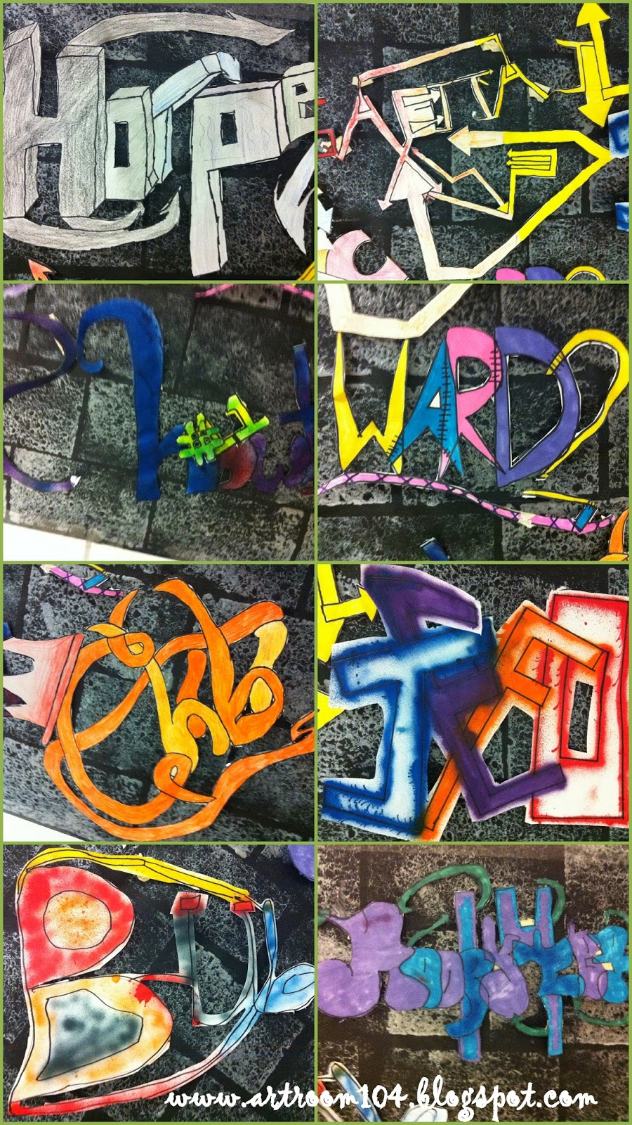 Graffiti wall rubric - I Passed Back The Graded Rubrics And Asked Students To Reflect On Their Tags Their Last Homework Assignment Was To Finalize And Redraw Their Tags Using My