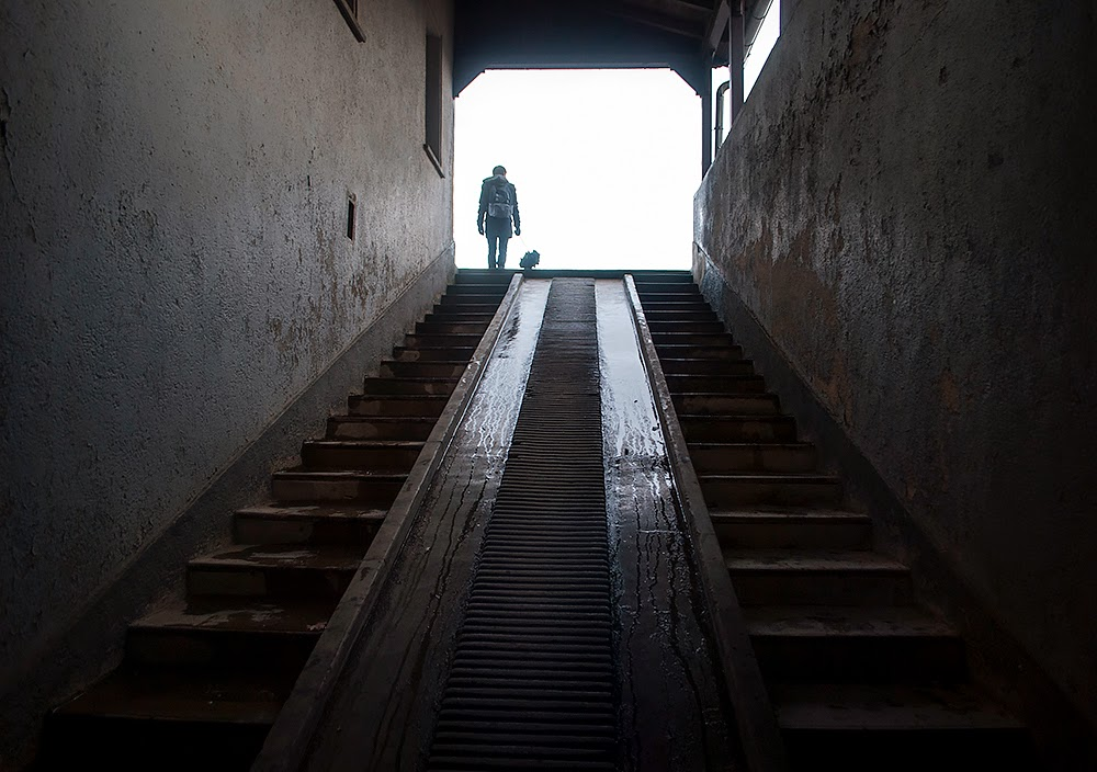 backview stairs sachsenhausen