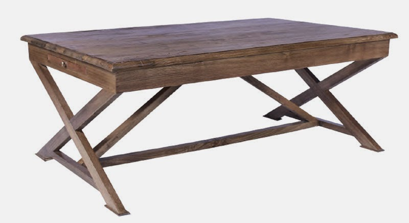 mesa de centro madera roble