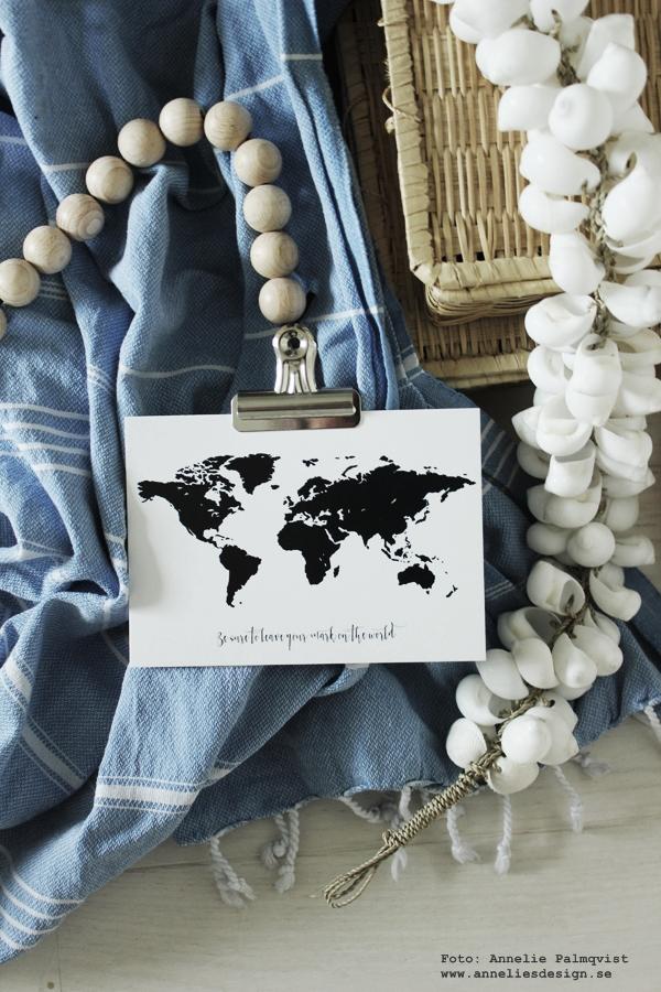 vykort, världskarta i svartvitt, svartvit karta, kartor med text, sayings, annelies design & interior, anneliesdesign, webbutik, webshop, webbutiker med inredning, inredningsdetaljer, inredningblogg, blogg, blgogar,