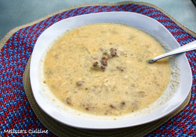 Melissa's Cuisine: Crock-pot Cheeseburger Soup