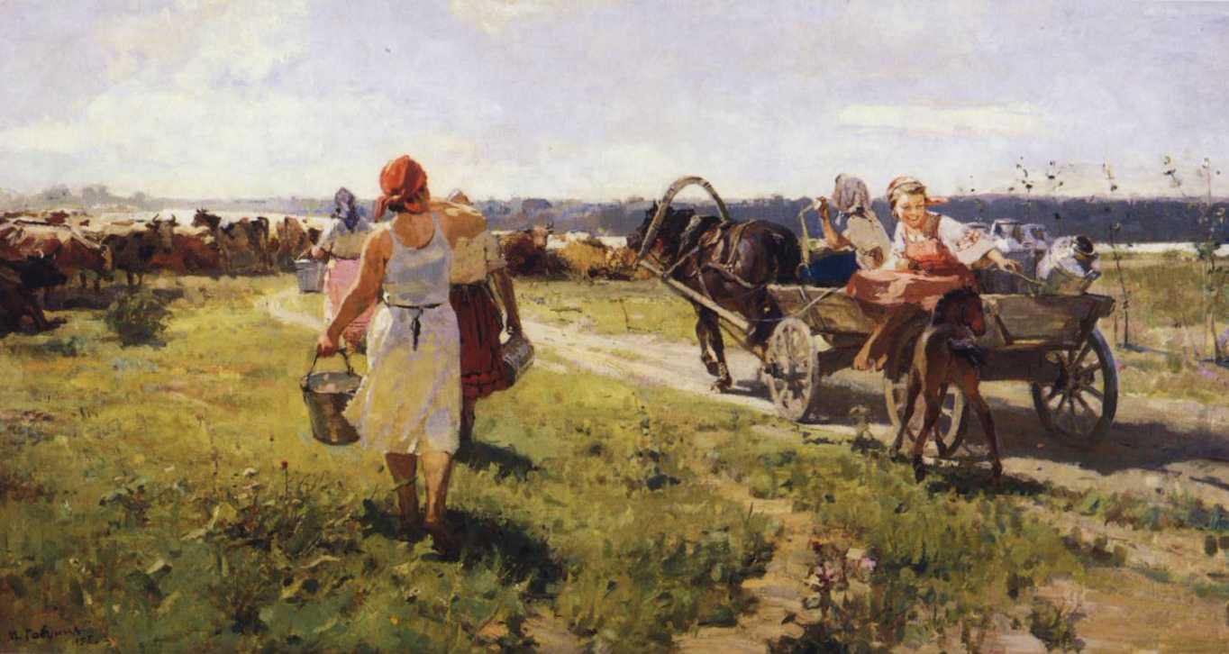 soviet art  farm work