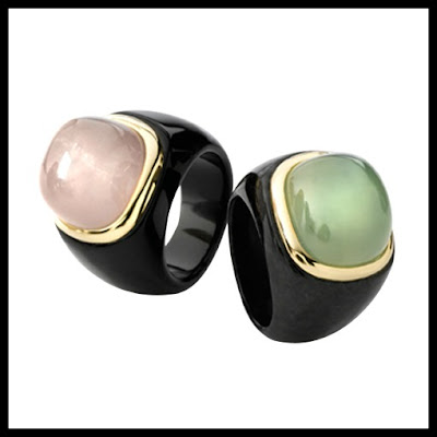black jade gemstone statement/cocktail rings