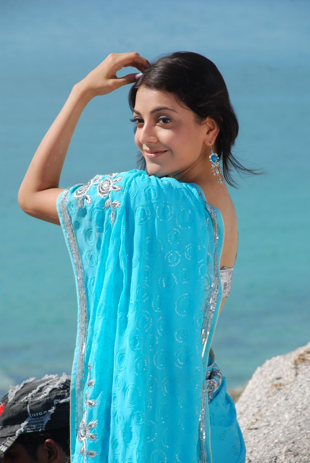 Namitha Blue Saree