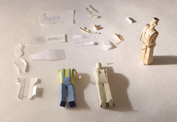 figura de papel de People Too. Paper World