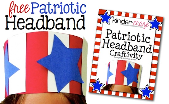 cute patriotic headband FREE download