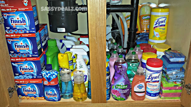 under kitchen sink couponing stockpile