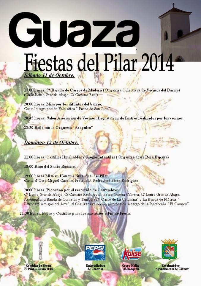 Fiestas de Ntra. Sra. del Pilar en Guaza- Güímar. Pincha en el enlace
