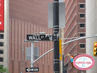 Wall Street (street sign) photo by ASliceOfHomeschoolPie.com