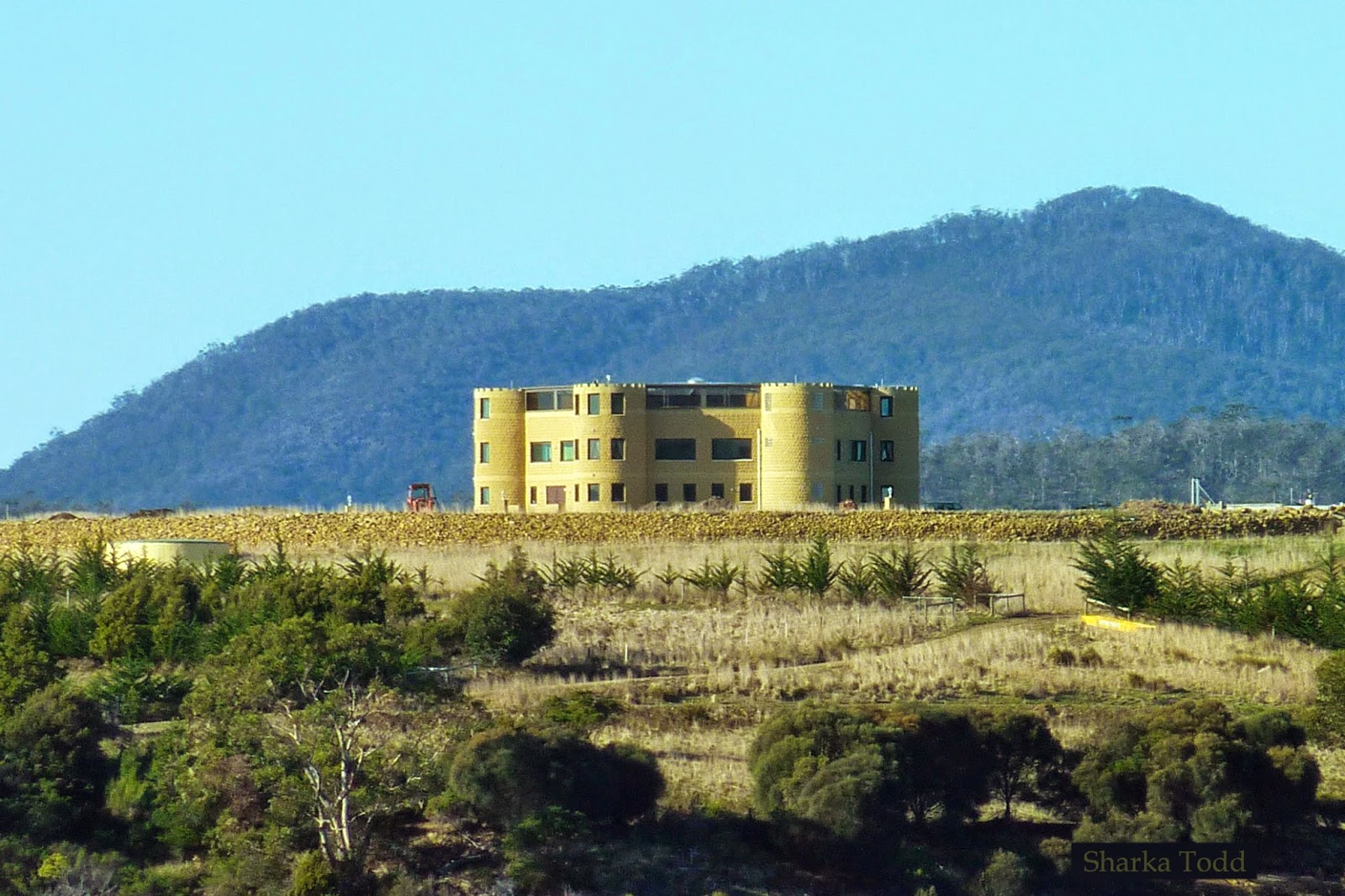 Mansion/castle located on Boomer Island, Tasmania owned by Gunter Jaeger