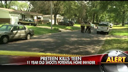 Home-alone Pre-teen Shoots Teen Intruder As 11 Year Old Kills With His Mothers Weapon