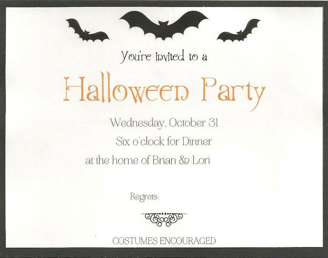 Just Nesting: Halloween Invitations