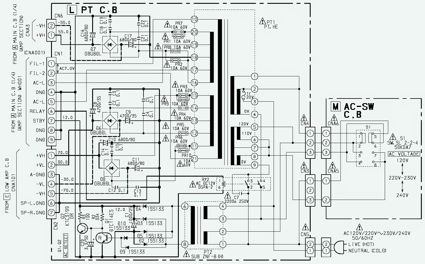 power.bmp aiwa xh a1060 compact disc stereo system schematics electro help aiwa cdc-x144 wiring diagram at aneh.co
