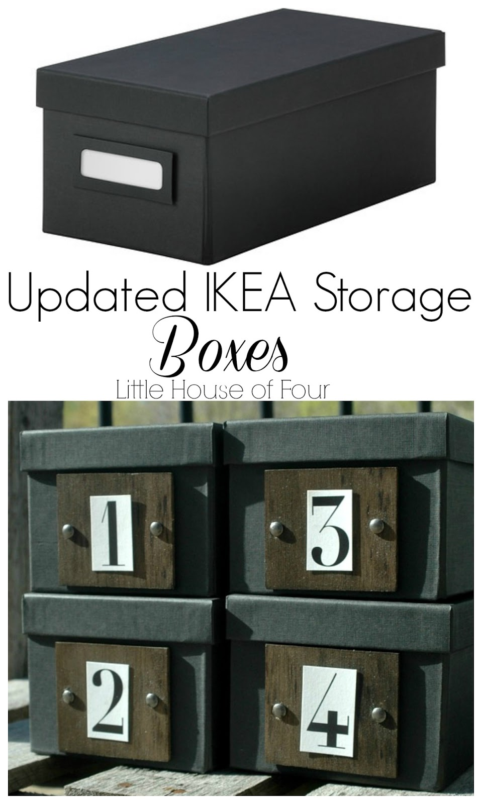 Updated IKEA Storage Boxes