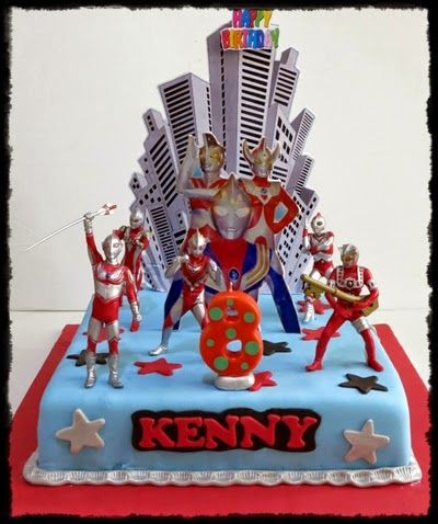 Ultraman Cake for Kenny Kue Ulang Tahun Birthday CakeCupcake