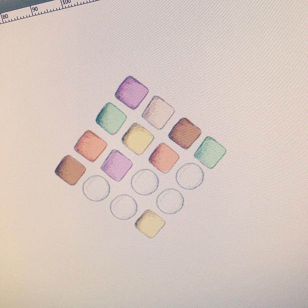 メイクパレット模様の製作画面
