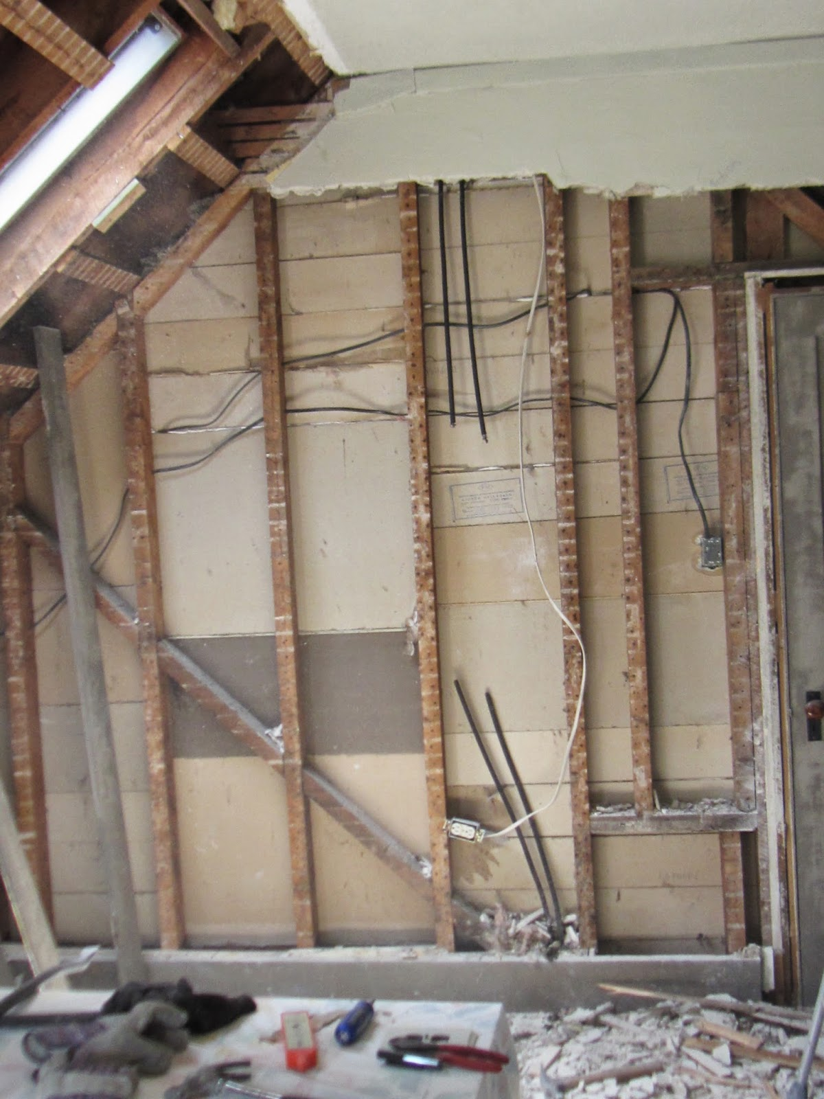 Modern Life In An Antique Farmhouse Wiring Old The Back Wall With Funky Electrical Wires Some Live And Dead Ended
