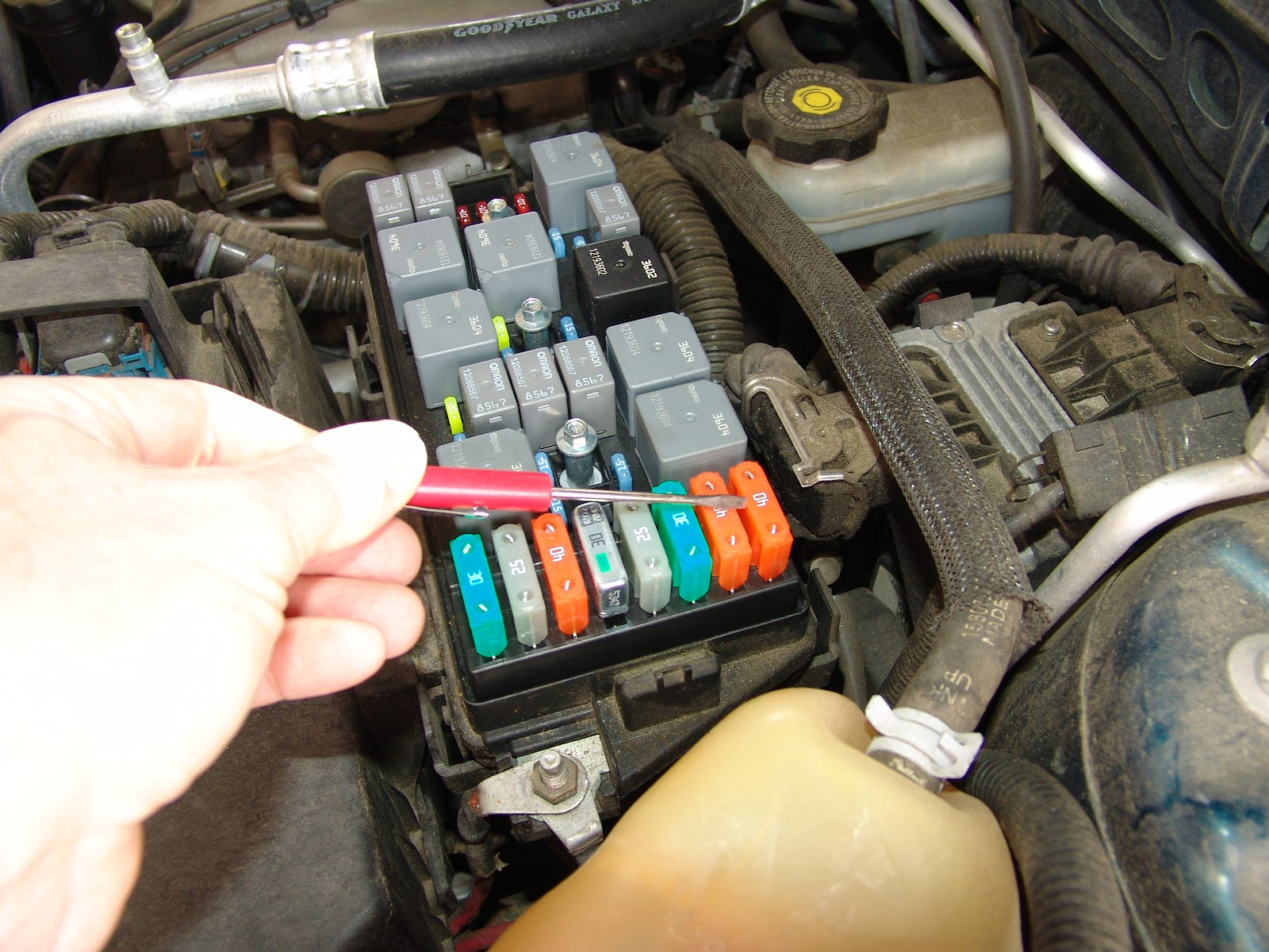 chevy impala blower motor resistor location