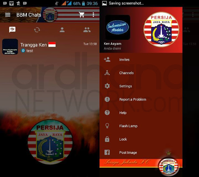Preview BBM Persija - BBM Android V2.10.0.35