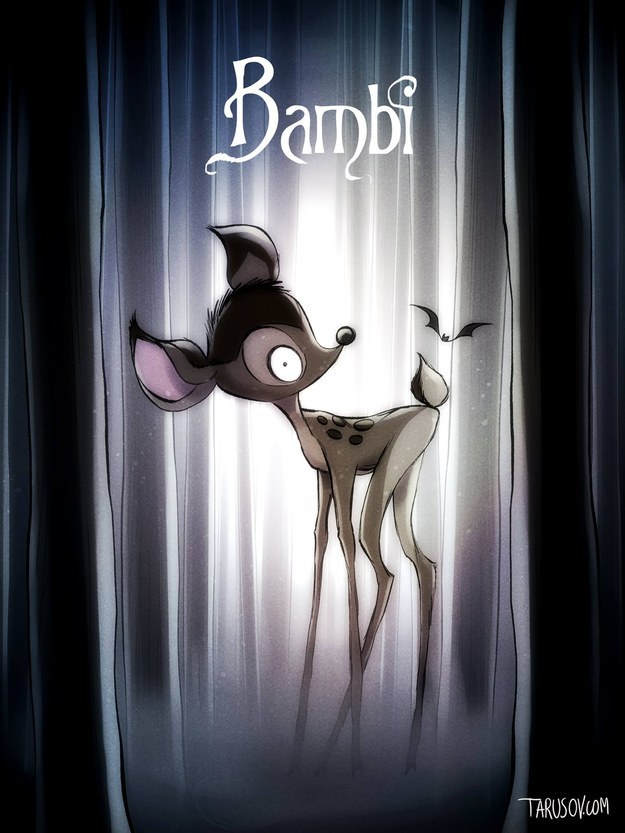 Disney Movies Reimagined As Tim Burton Films