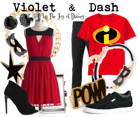 The Incredibles, The Incredibles costumes, Disney Fashion, Disney blog, Violet Incredible, Dash Incredible