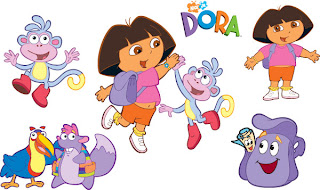 Happy 3rd Birthday Pretty - Dora Logo