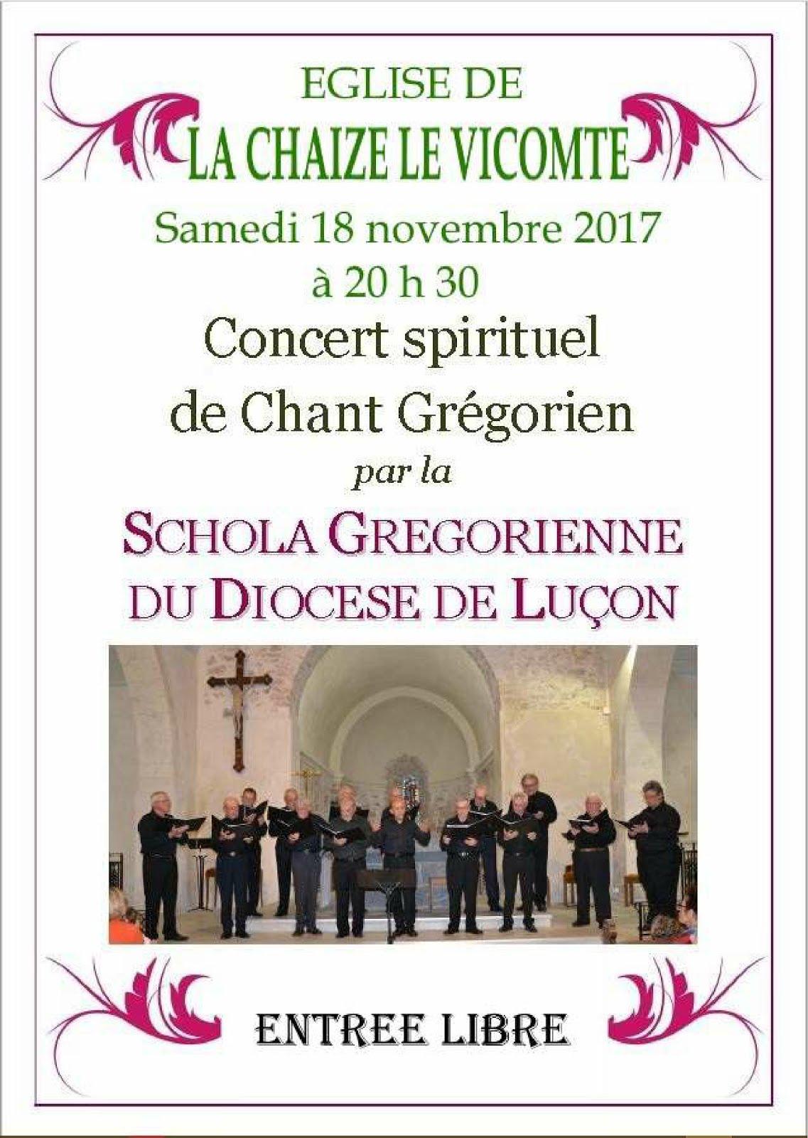 concert spirituel de chant Grégorien