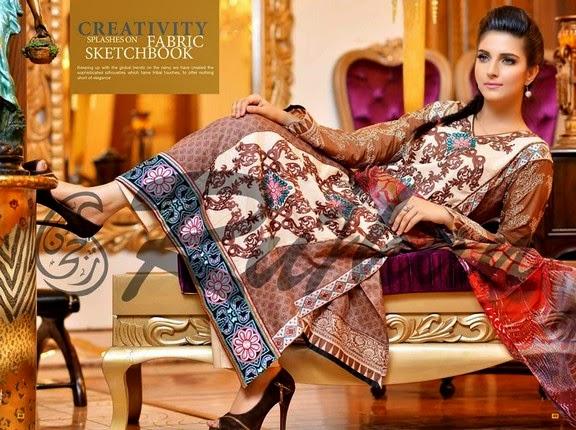 FestivanaEidCollectionByRujhanFabrics wwwfashionhuntworldblogspot 6  - Festivana Eid Collection 2014-2015 By Rujhan Fabrics