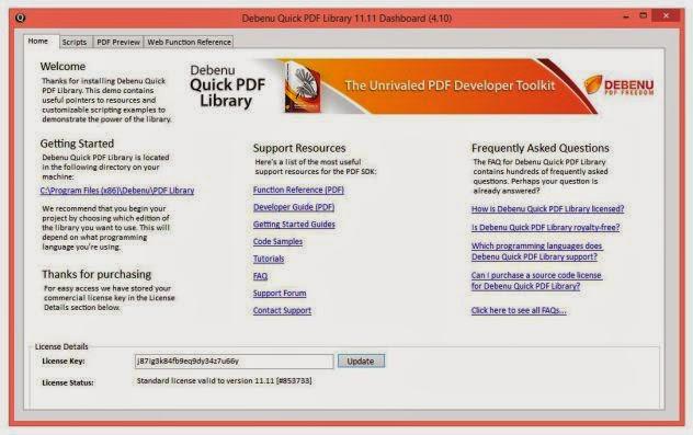 Debenu Quick PDF Library 11 Full Serial Key
