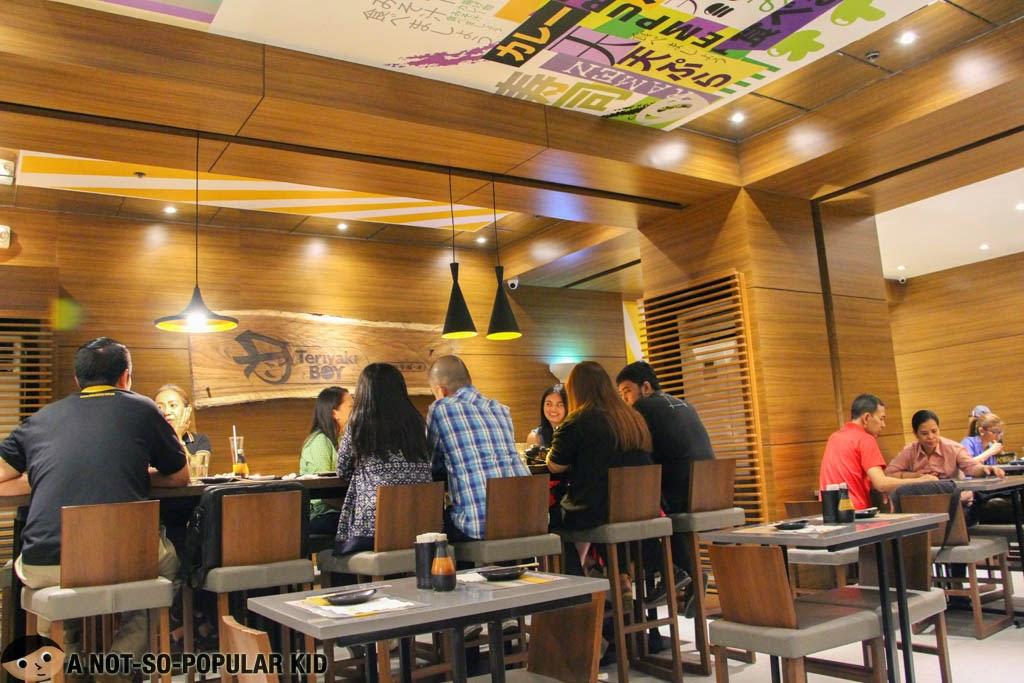 The newly renovated Teriyaki Boy in Glorietta, Makati