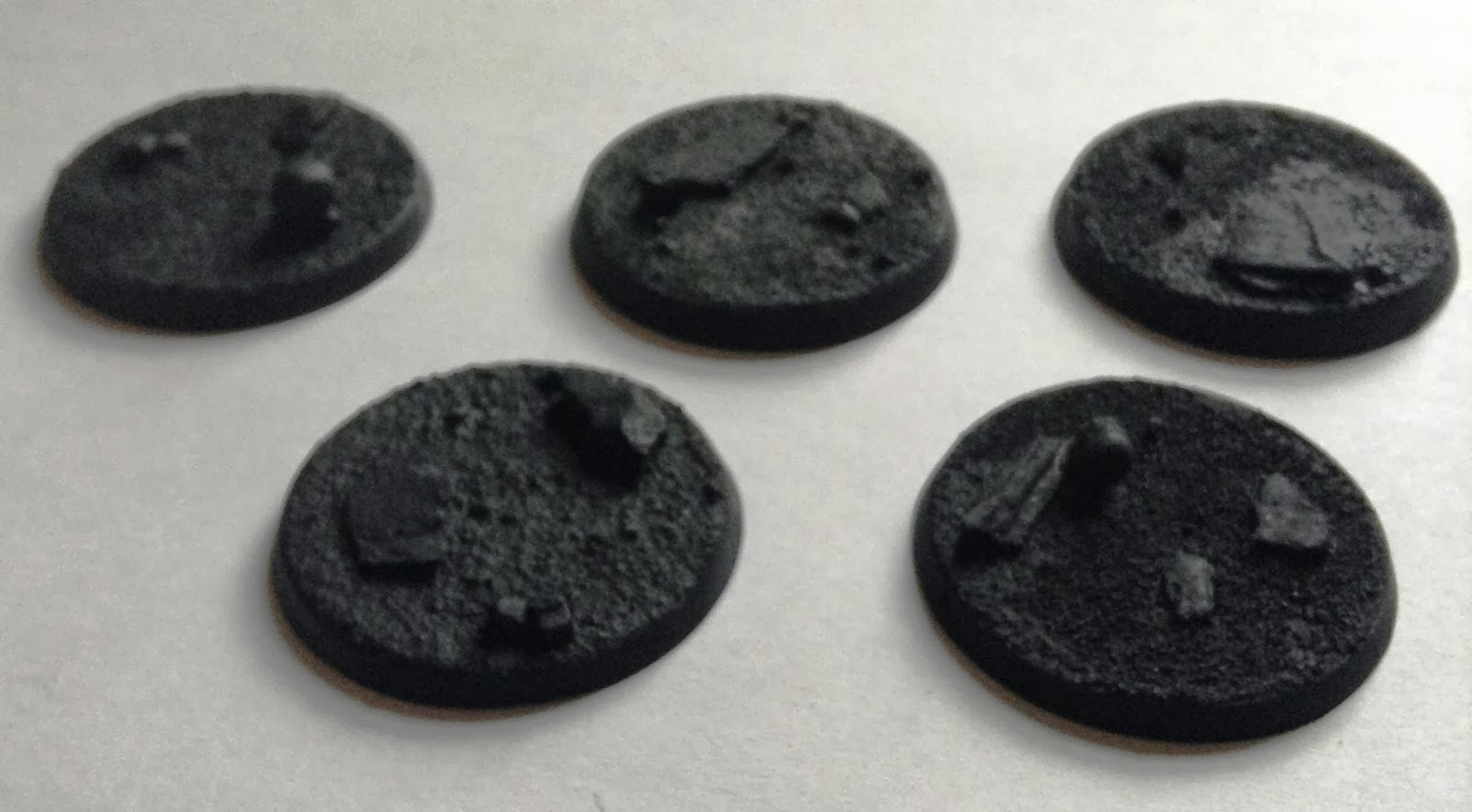 Round Slate Small Warhammer 40k 25mm Resin Bases 30