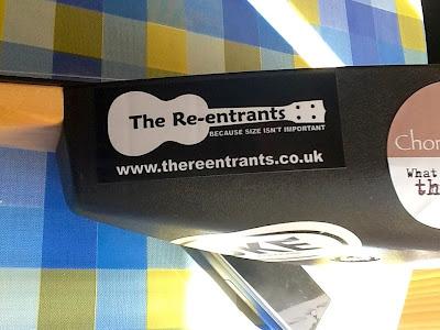 The Re-entrants ukulele sticker