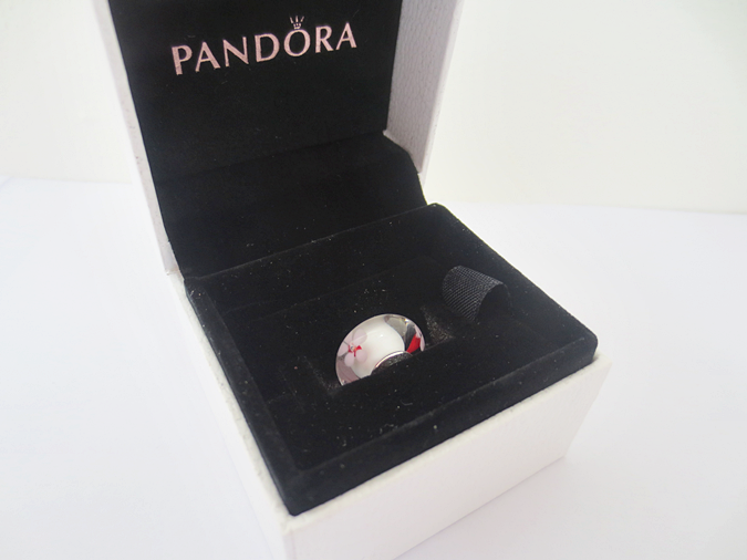 Pandora Murano glass cherry blossom charm