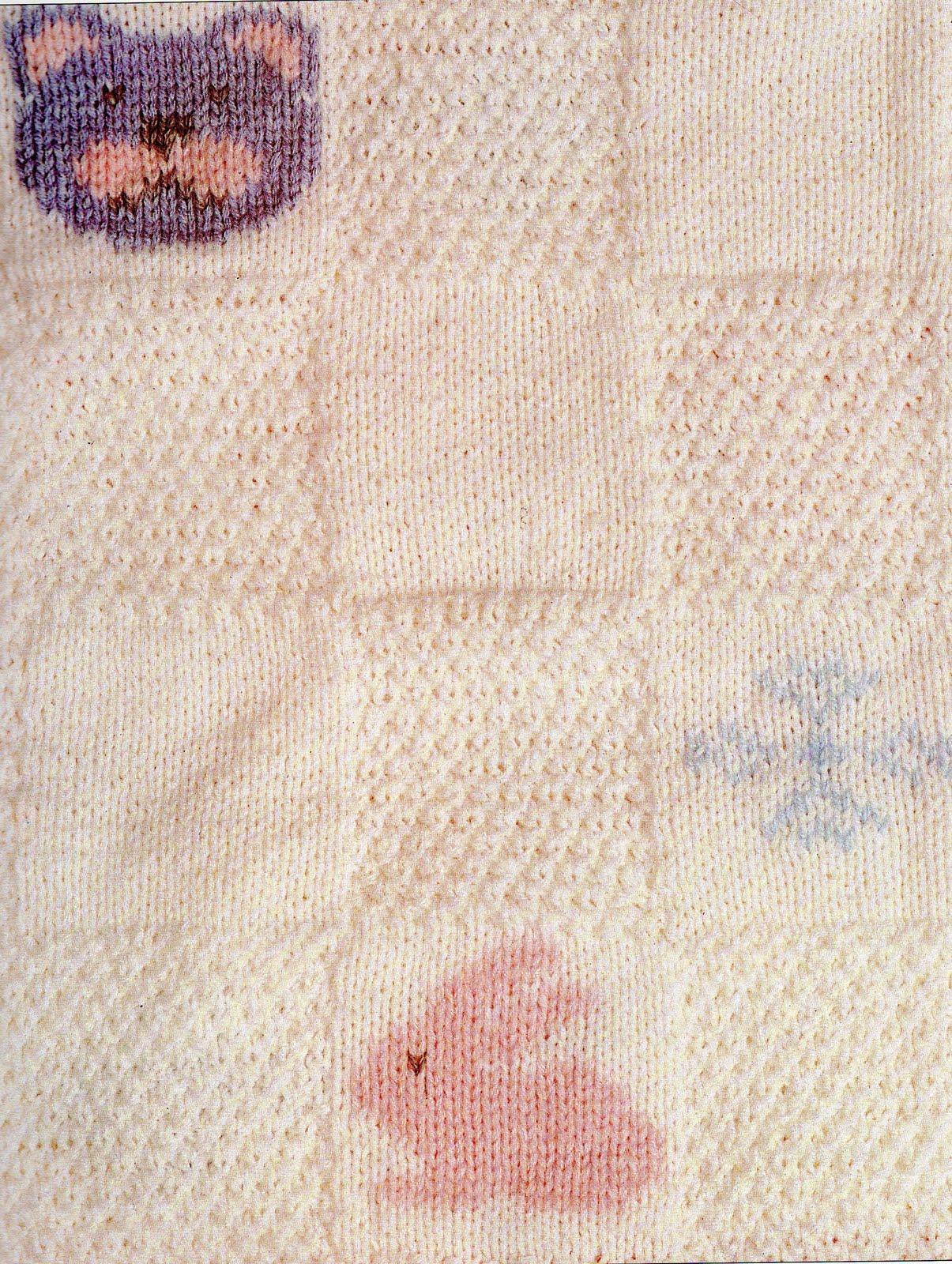 Mantillas para bebés (crochet, dos agujas)