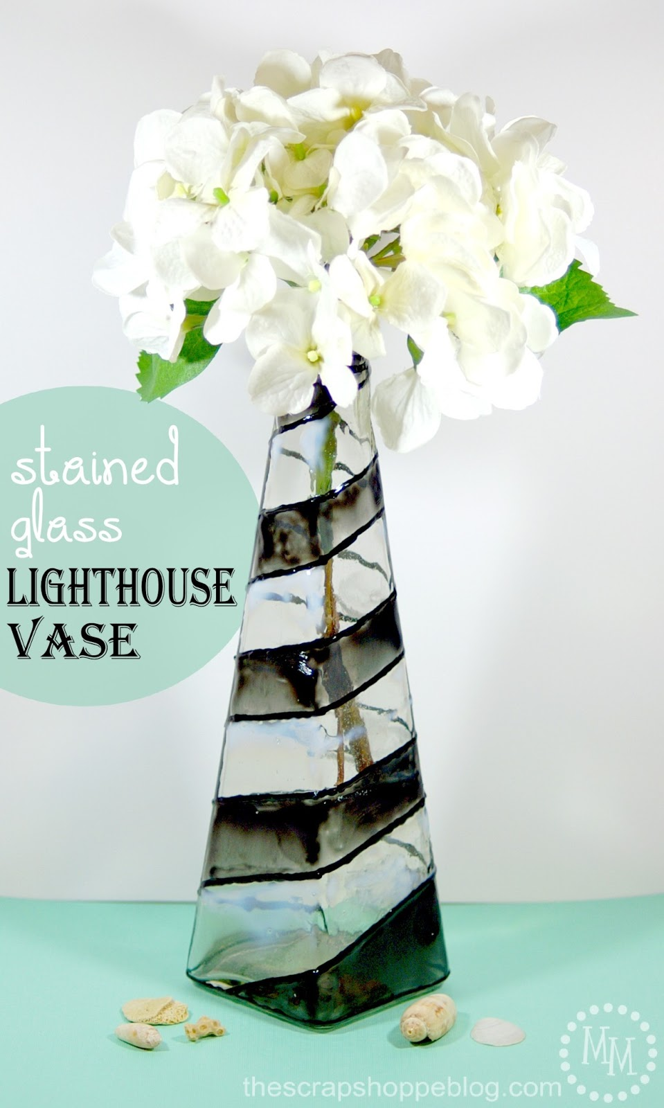 Stained glass lighthouse vase the scrap shoppe im super excited to say ive teamed up with several other bloggers and decoart to give away a 100 michaels gift card 100 worth of decoart glass paint reviewsmspy