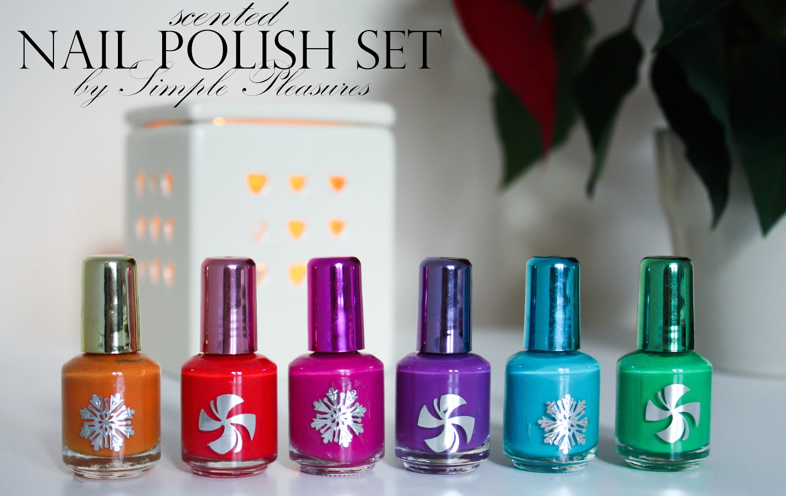 These Nail Polishes Are Just So Cute The Idea Of Christmas Scents Is Lovely They Come In A Set 6 Bottles 7 4ml Each Design