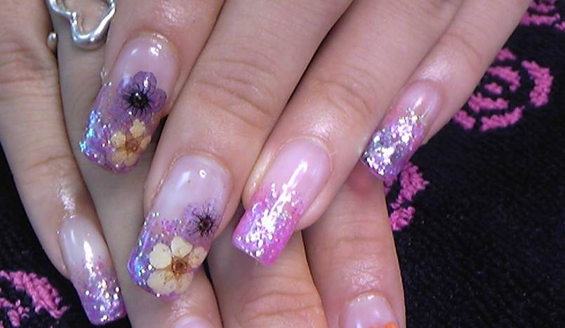 Pin Unghii Cu Gel 2012 French Sclipici Pelautscom On Pinterest