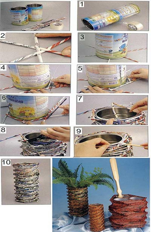 Hoy hablamos de manualidades con papel peri dico - Manualidades con papel periodico paso a paso ...