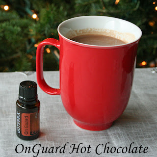 Infused with dōTERRA's OnGuard essential oil blend of wild orange, clove bud, cinnamon, eucalyptus and rosemary makes this Hot Chocolate a seasonal, immune boosting treat.