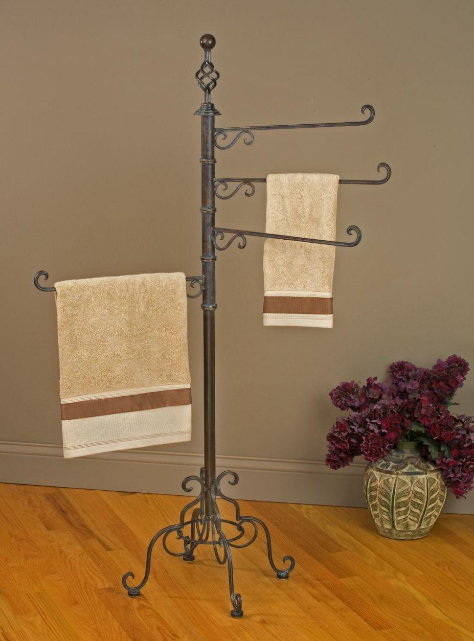 Bath Towel Standing Rack. . Incredible Bathroom Towel Racks Images ...