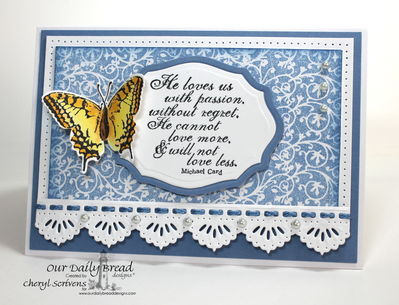 Stamps - Our Daily Bread Designs God's Love, Chalkboard Vine Background, 2 Step Butterfly, ODBD Custom Beautiful Borders Dies, ODBD Custom Elegant Oval Dies, ODBD Custom Grunge Butterfly Die